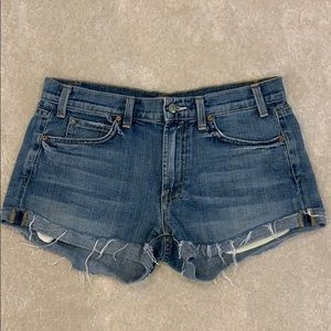 Vince Jean shorts cutoffs size 27